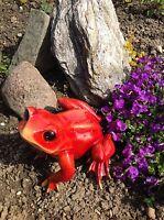 XL großer Frosch, wetterfeste Dekofigur in-/outdoor Garten Teich Brunnen Unke