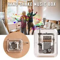 Mini Hand Cranking Music Box Music Movement DIY Music Box For Christmas Gift