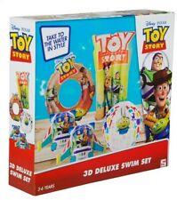 DISNEY TOY STORY 3D DELUXE SWIM SET 24X26CM - FOR BOYS & GIRLS SWIM - NEW BOXED
