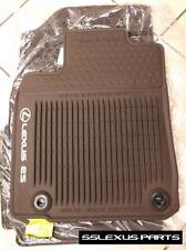 Lexus ES350 ES300H (16-18) OEM 4pc ALL WEATHER FLOOR MATS (Brown) PT908-33160-40