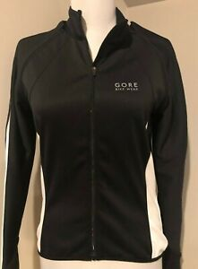 GORE BIKE WEAR Windstopper Womens Black Removeable Sleeves Cycling Jacket Small