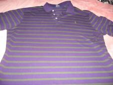 Ralph Lauren Golf Purple and Green Striped Three  Button   Adult   Large Polo