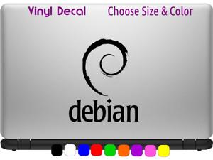 DEBIAN Linux Logo Vinyl Decal Laptop Car Window Sticker CHOOSE SIZE COLOR