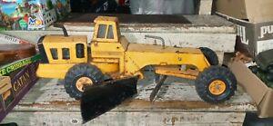 Vtg 70's MIGHTY TONKA ROAD GRADER #54726 rare orange
