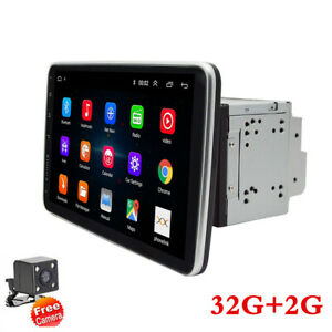 "10.1"" Android 9.1 Car Stereo Radio Player GPS Wifi Mirror Link 2Din +Rear Camera"