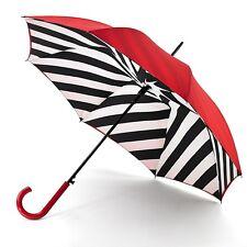 Lulu Guinness by Fulton Ladies Bloomsbury-2 Designer Umbrella Diagonal Stripe