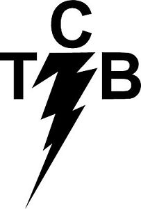 Elvis TCB (Taking Care of Business) 12 inch high  Decal