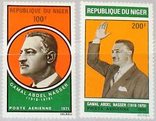 NIGER 1971 277-78 C146-47 Gamal Abdel Nasser President of Egypt Statesman MNH