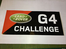 G4 CHALLENGE 2008 LAND ROVER  BONNET/DOOR  STICKER CORRECT SIZE AND FONT