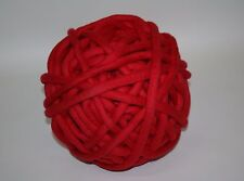 1kg Coloured Merino felted super chunky Nundle wool vine knitting Red