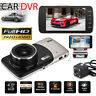 "4"" 1080P HD 170° Dual Lens Car DVR Dash Cam Front and Rear Camera Video Recorder"