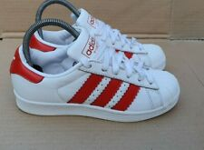 ADIDAS SUPERSTAR TRAINERS RED AND WHITE SIZE 4 UK GOOD NEED CLEAN UP