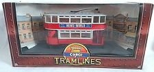 CORGI TRAMLINES ENCLOSED DOUBLE DECK LONDON TRANSPORT TRAM NEWS OF THE WORLD