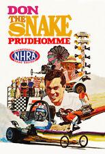 1971 Don The Snake Prudhomme NHRA Vintage Drag Racing Poster