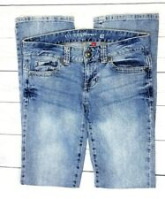 Guess Womens Daredevil Boot Jeans Size 28 (31x33) Stretch Mid-Rise Bootcut