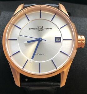 OFFICINA DEL TEMPO MADE IN ITALY OT1033-4300ABN ROSE GOLD COLOUR AND SILVER