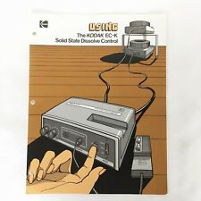 Original Using Kodak Ec-K Solid State Dissolve Control User Guide