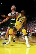 Los Angeles Lakers Magic Johnson & Larry Bird Poster (24x36) inches