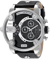 Diesel Men's DZ7256 'The Daddies' Chronograph Black Leather Watch