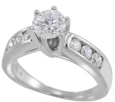 in 10K White Gold, size 7 1.47ct Tw Brilliant Cut Zirconia Engagement Ring