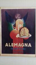 advertising pubblicità werbung 1951 panettone  ALEMAGNA Lucien VERTAUX