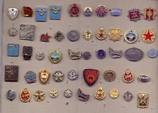 lot 49 pins pin badge anstecknadel YUGOSLAVIA MILITARY SCHOOLS JNA ARMY SFRJ