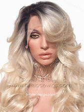 Dark Root blonde Champagne lace front wig blonde lace wig lace wig blonde wig