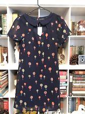 Sugarhill Boutique Modcloth Hot Air Ballon Print Dress Navy S/m Retro
