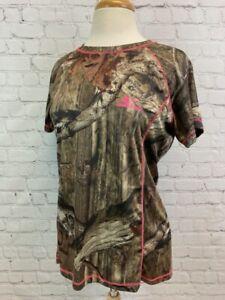 MOSSY OAK DRY MORE TECH Women's Large Camo Shirt