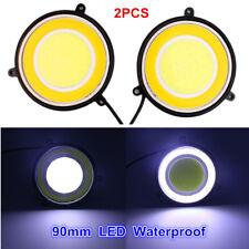 2x LED Car SUV Daylights Round Dual Circle Waterproof DRL White Turn Signal Lamp