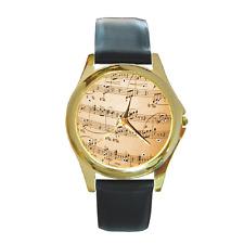Reloj De Pulsera notas de Música Musical Redondo ** NUEVO ARTÍCULO **