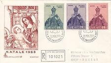 VATICANO BUSTA CAPITOLIUM NATALE 1968 FDC ANNULLO PRIMO GIORNO