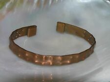 Vintage Handmade Hammered Solid Copper Cuff Bracelet – 2.75 inches across
