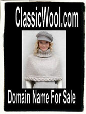 Classic Wool .com Pleated Skirts Hats Jackets Coats Domain Name For Sale Wools