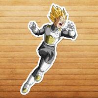 Vegeta Super Saiyan Dragon Goku Car Die Cut Window Vinyl Decal Sticker