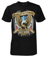 Harley-Davidson Men's Custom V Eagle Short Sleeve Crew Neck Tee - Black