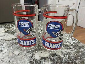 2 Vintage 1980's NFL Football NEW YORK GIANTS Mugs Beer Stein LOOK