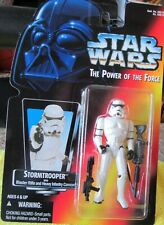 Star Wars POTF2 Red Orange Card Stormtrooper Figure Extremely Rare 1995