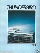 Auto Brochure - Ford - Thunderbird - 1981- FRENCH language  (AB758)