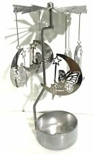 Moon & Fairy - Silver Carousel Spinner - Rotary Tealight Candle Holder
