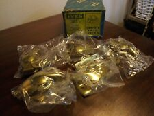 Box of 6 Vtg Cam-Tite Sash Locks 4F3 Wrought Steel Burnished Bright Brass Plated