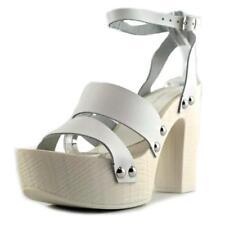 Sandalias y chanclas de mujer de tacón alto (más que 7,5 cm) de color principal blanco talla 37