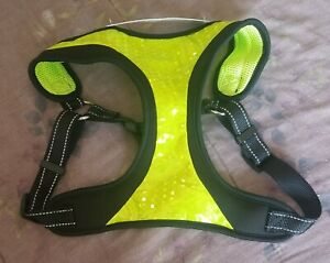 Top Paw Neon Yellow & Black Dog Pet Adjustable Harness - Size Large - NWT