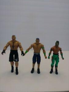 WWE Action Figure Bundle (3) Brock Lesnar, John Cena, Kalisto