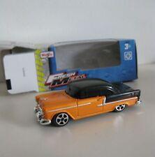 1955 Chevrolet Bel Air  Cool Custom Orange/Black  **** Maisto 1:64 OVP