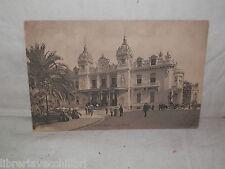 Vecchia cartolina foto d epoca di Monte Carlo le casino piazza strada scorcio