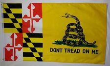 Maryland Don't Tread On Me Flag 3' x 5' Gun Rights 2nd Amendment Usa Banner