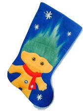 Boy Troll Blue Christmas Stocking