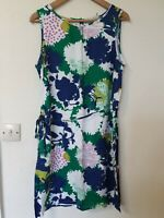 White Stuff Floral Abstract Print Lined Dress Size 14