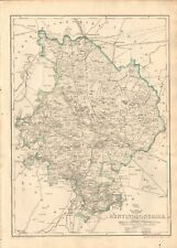1863 Large Antique Map - Dispatch Atlas- Huntingdonshire